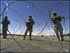 File photo of US troops near Fallujah, April 2004