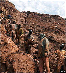 Congolese gold miners
