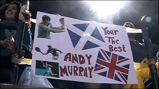 Fans of British number one, Andy Murray