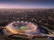 Olympic stadium artist sketch