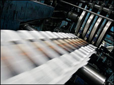 Newspaper production line