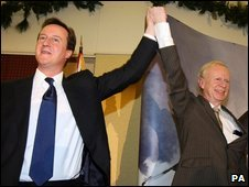 David Cameron and Sir Reg Empey