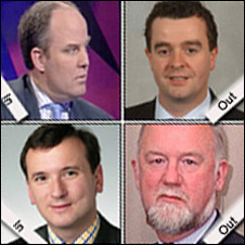 Andrew R Davies replaces Jonathan Morgan (top right), and Alun Cairns (bottom left) replaces William Graham