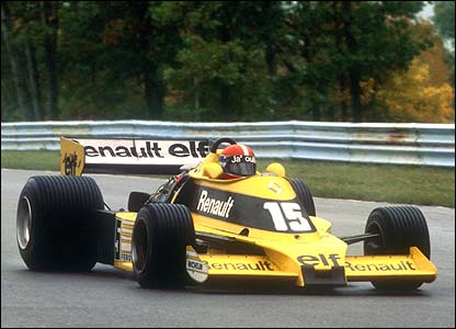 Jean-Pierre Jabouille in the first Renault turbo car in 1977