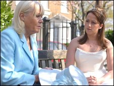 Wendy Richard and Natalie Cassidy in Eastenders