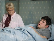 Wendy Richard and James Alexandrou