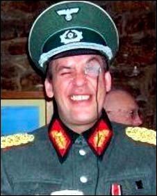 Sean Aspey dressed as a Nazi