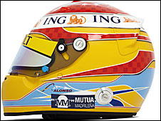 Fernando Alonso's 2009 helmet