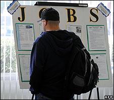 Man at a job centre in Pasadena, California