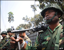At least 200 members of Bangladesh's border force have been arrested