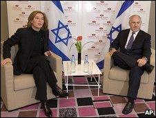 Tzipi Livni and Benjamin Netanyahu