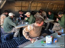British Army dining tent