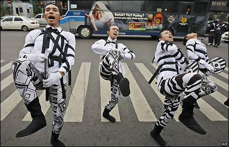 Dance troupe in Jakarta, Indonesia