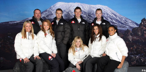 The Comic Relief climbers