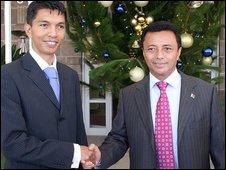 Andry Rajoelina and President Marc Ravalomanana