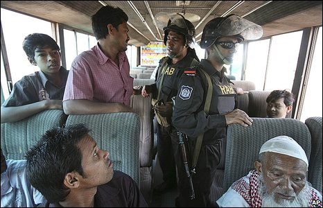 Bus being searched