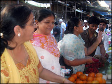 Shoppers in the Crawford Market