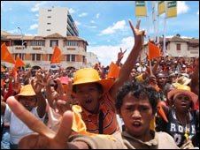 Street rally in Madagascar