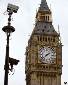CCTV cameras outside the Houses of Parliament