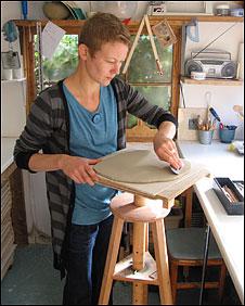 Vik Ellis, an artist from Norwich