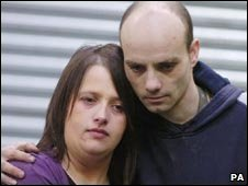 Emma Williams and her partner Gareth Forbes