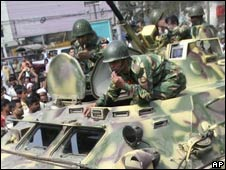 Bangladesh's army troops in Dhaka
