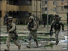 US soldiers on patrol in Mosul, Iraq (file image)