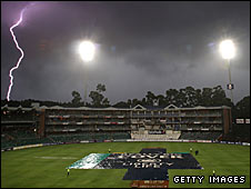 Thunder storm at the Wanderers Ground