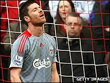 Liverpool midfielder Xabi Alonso