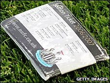 A Newcastle ticket