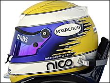Nico Rosberg's 2009 helmet