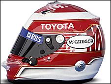 Kazuki Nakajima's helmet 2009