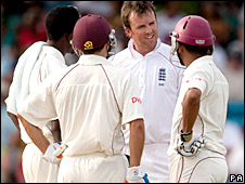 Graeme Swann talks to Ramnaresh Sarwan