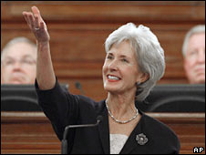 Kansas Governor Kathleen Sebelius. File photo
