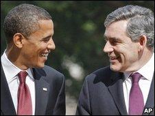 US President Barack Obama and UK Prime Minister Gordon Brown