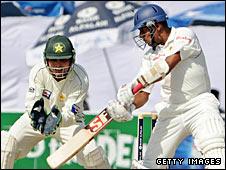 Sri Lanka's Thilan Samaraweera plays a stroke