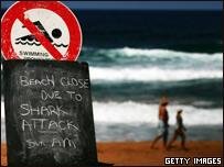 Señal que indica la prohibición de nadar en la playa