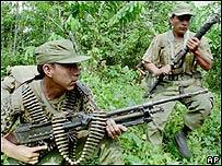 Soldados peruanos en 1995