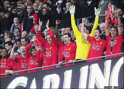 Man Utd win the Carling Cup