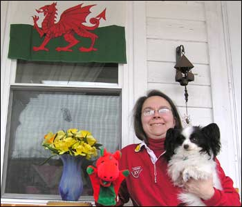 Laura (and Missy) in New York state send happy St David's Day wishes