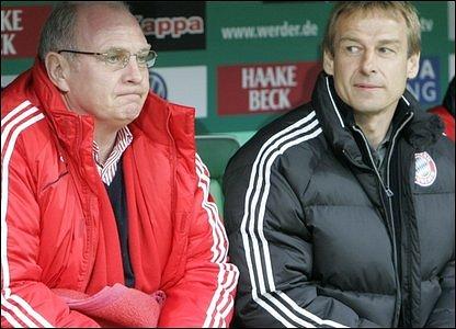 Uli Hoeness and Jurgen Klinsmann