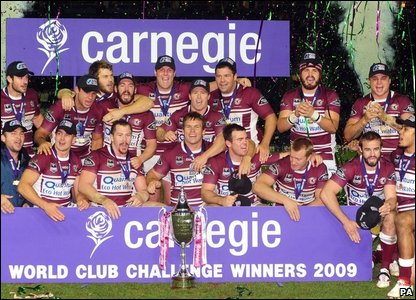 Manly Sea Eagles celebrate