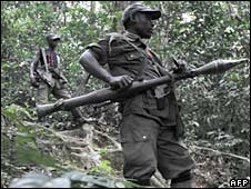 FDLR rebels in the eastern DR Congo. File photo