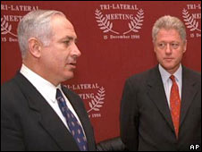 Benjamin Netanyahu and Bill Clinton in 1998
