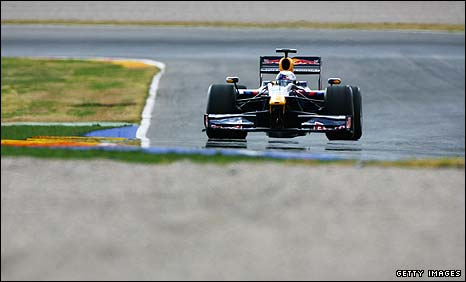 Sebastian Vettel was well clear on the first of five days of testing.