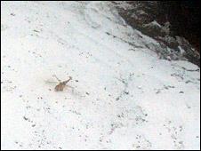 RAF helicopter in Stob Coire nan Lochan rescue