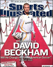 David Beckham on the cover of Sports Illustrated