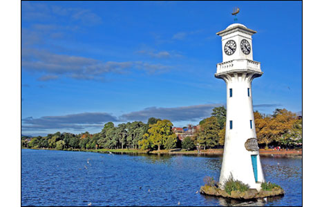 Roath Park Lake - photo by Qasim Shafi.