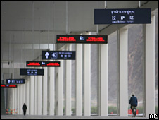 File image of the new railway station that connects Lhasa with Beijing