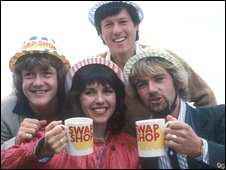 Maggie Philbin and the Swap Shop team